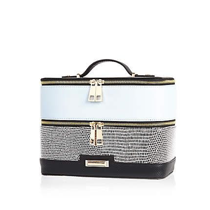 Black And Blue Vanity Case Womens Luggage Purses And Bags Bags