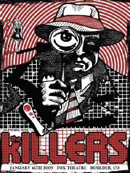 The Killers Music Gig Posters Music Posters Memorabilia
