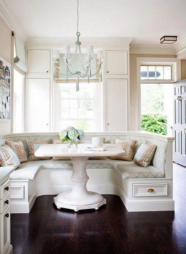 Kitchen Nook Dining Set Ideas Classic White Corner Nook Set White Bench  Storage Drawers