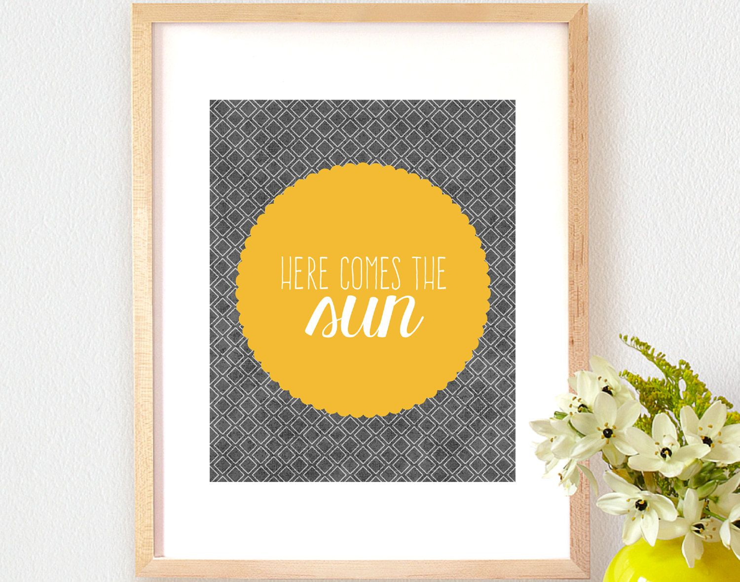 Art Print OR Canvas, The Beatles, Here Comes The Sun, Abbey Road ...