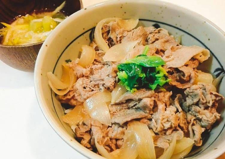 Resep Gyudon Beef Bowl Ala Yoshinoya Mudah Banget Oleh Akari Papa Resep Resep Daging Sapi Memasak Resep