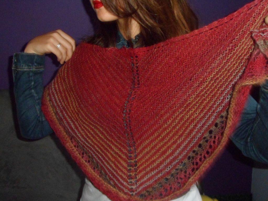 tricoter une echarpe chale