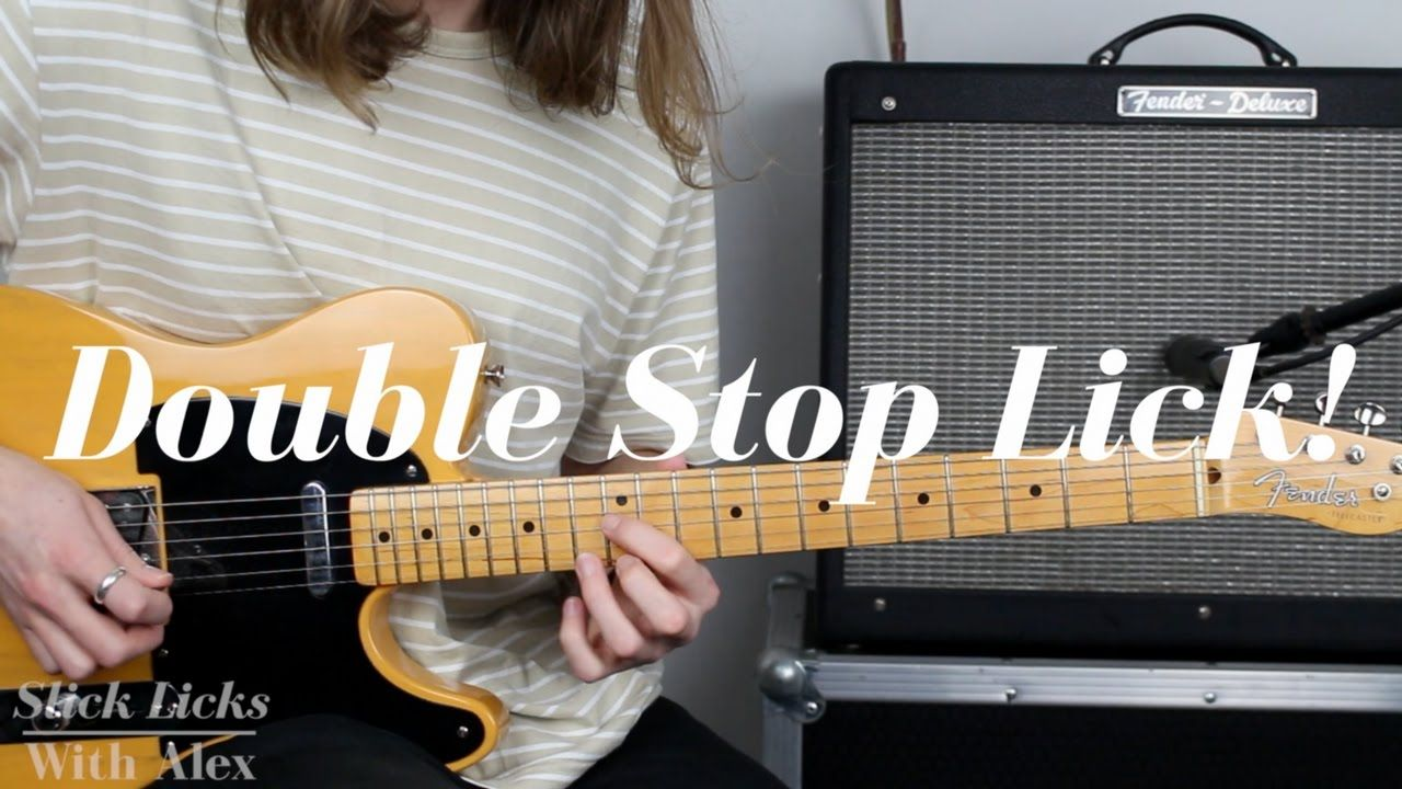 Country Double Stop Lick Lesson With TAB PDF Slick