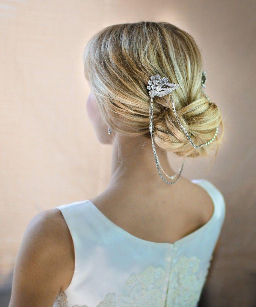 boho bridal hair chain