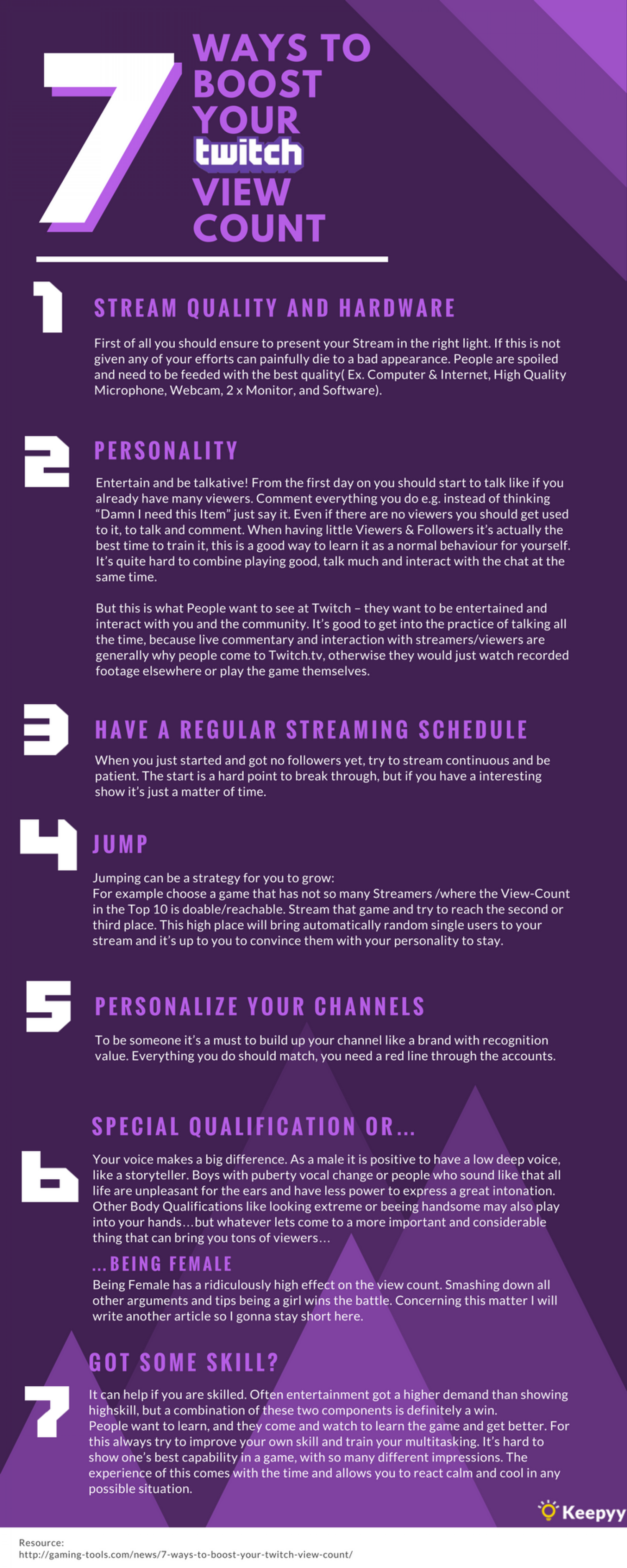 7 Ways To Boost Your Twitch View Count Infographic Twitch Twitch Streaming Setup Business Blog