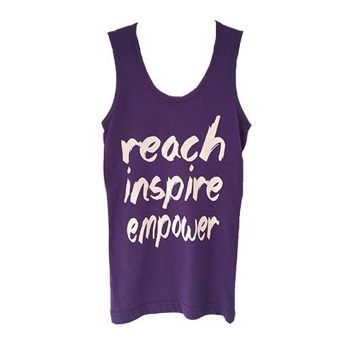 "Girls Purple ""Reach Inspire Empower"" Tank Top"