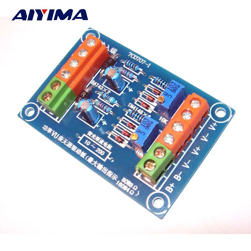 Click to Buy << Aiyima Passive Stereo Meter Driver Board Audio Power ...
