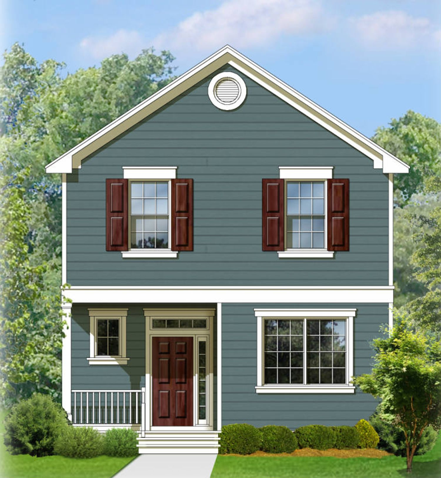 Plan 82083KA: Two Story Traditional House Plan | Colonial ...