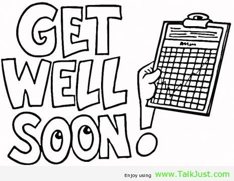 coloring pages i hope you feel better  Get well soon card  Talk