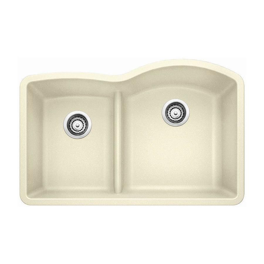 Blanco Diamond 32 In X 20 875 In Biscuit Off White Double Basin
