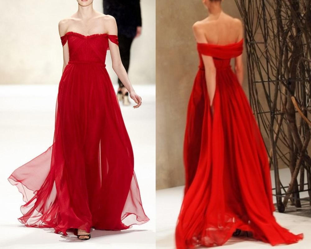 Red prom dressessimple evening dressa line prom dresscheap prom