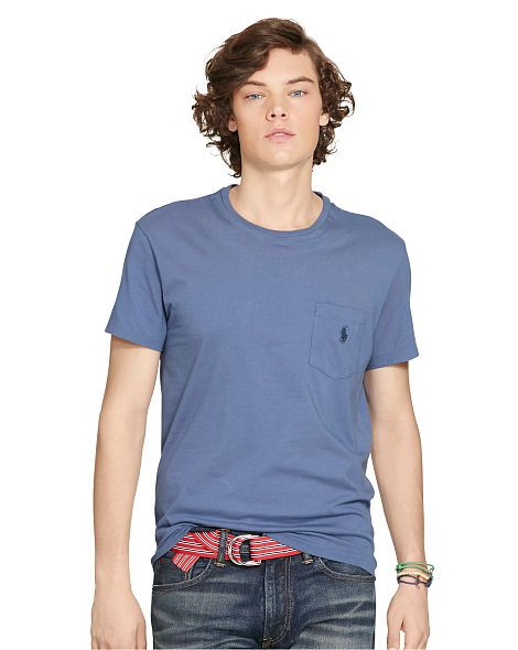 Classic-Fit Cotton Pocket Tee - Polo Ralph Lauren Tees - RalphLauren.com