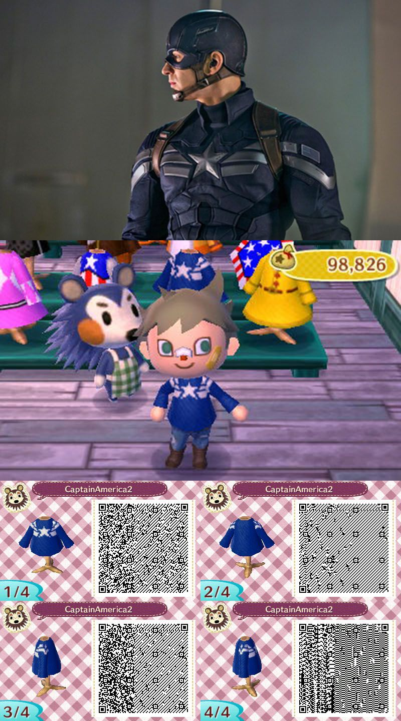 Captain America: The Winter Soldier S.H.I.E.L.D. uniform. #AnimalCrossing #ACNL …