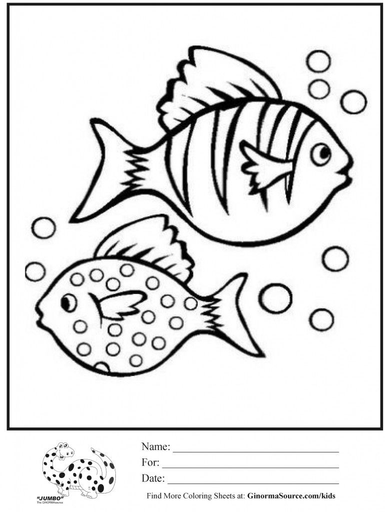 coloring pages fish bubbles | Paint it! | Pinterest | Fish, Clay ...