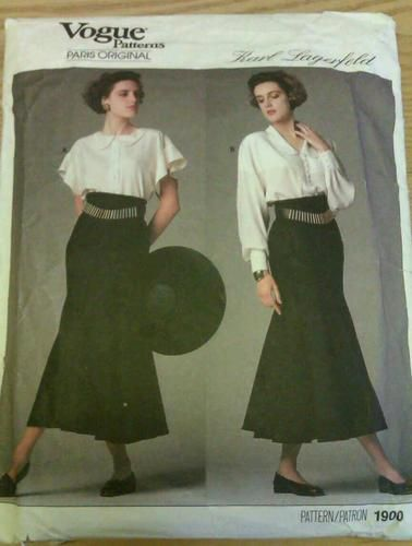 Vogue 1900 Karl Largerfeld | My Sewing Patterns - 1990s Onward ...