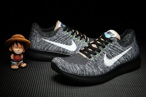 Nike Free RN 5.0 Flyknit Men Black Grey Shoes [nikefree