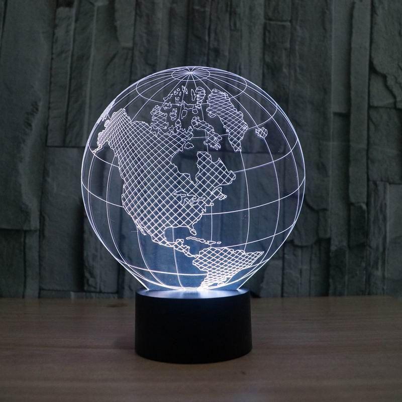 Globe 3d Illusion Lamp 3d Led Lamp 3d Illusion Lamp Globe Lamps
