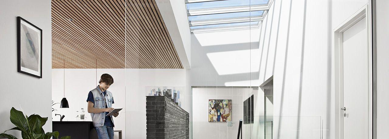 Verrières modulaires VELUX pour lu0027habitat en toit plat VELUX