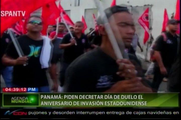 Panamá Piden Decretar Día De Duelo En El Aniversario De Invasión Estadounidense