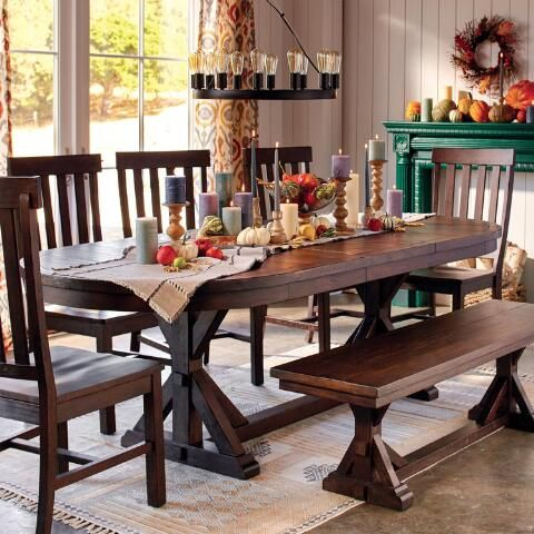 Rustic Brown Oval Wood Brooklynn Extension Dining Table World
