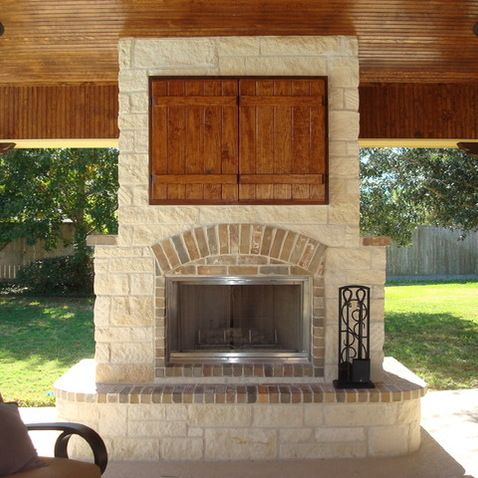 Outdoor Fireplace Tv Design Ideas, Outdoor Patio With Fireplace And Tv
