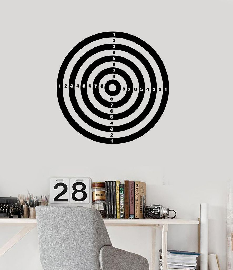 Wall Stickers Vinyl Decal Darts Target for Living Room Decor