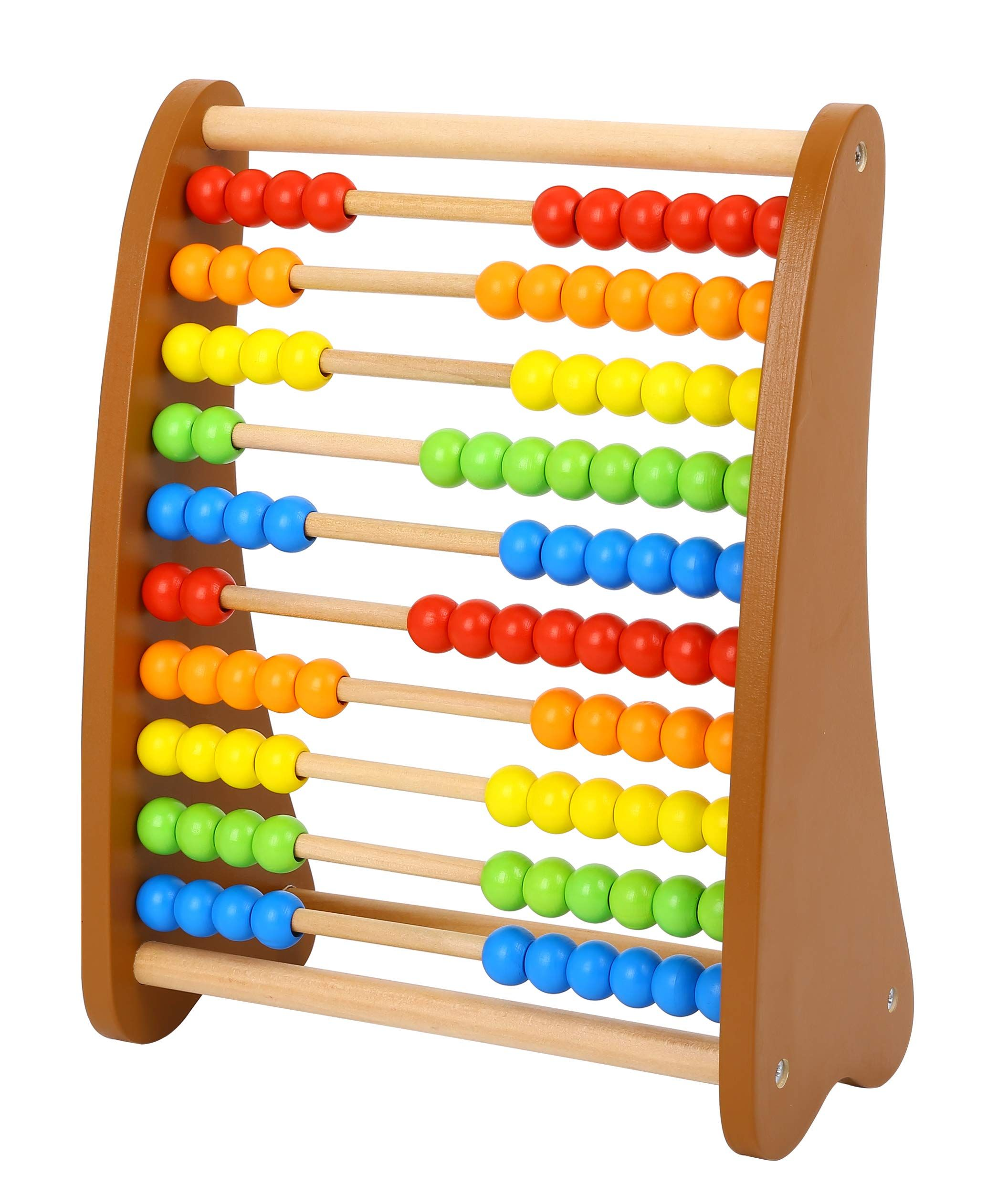 Wooden Abacus Classic Counting Tool Early Learning Develpmental Toy Multi Colored Beads 10 Extensions 100 Bead Abacu Math Toys Early Learning Learning Toys [ 2480 x 2112 Pixel ]