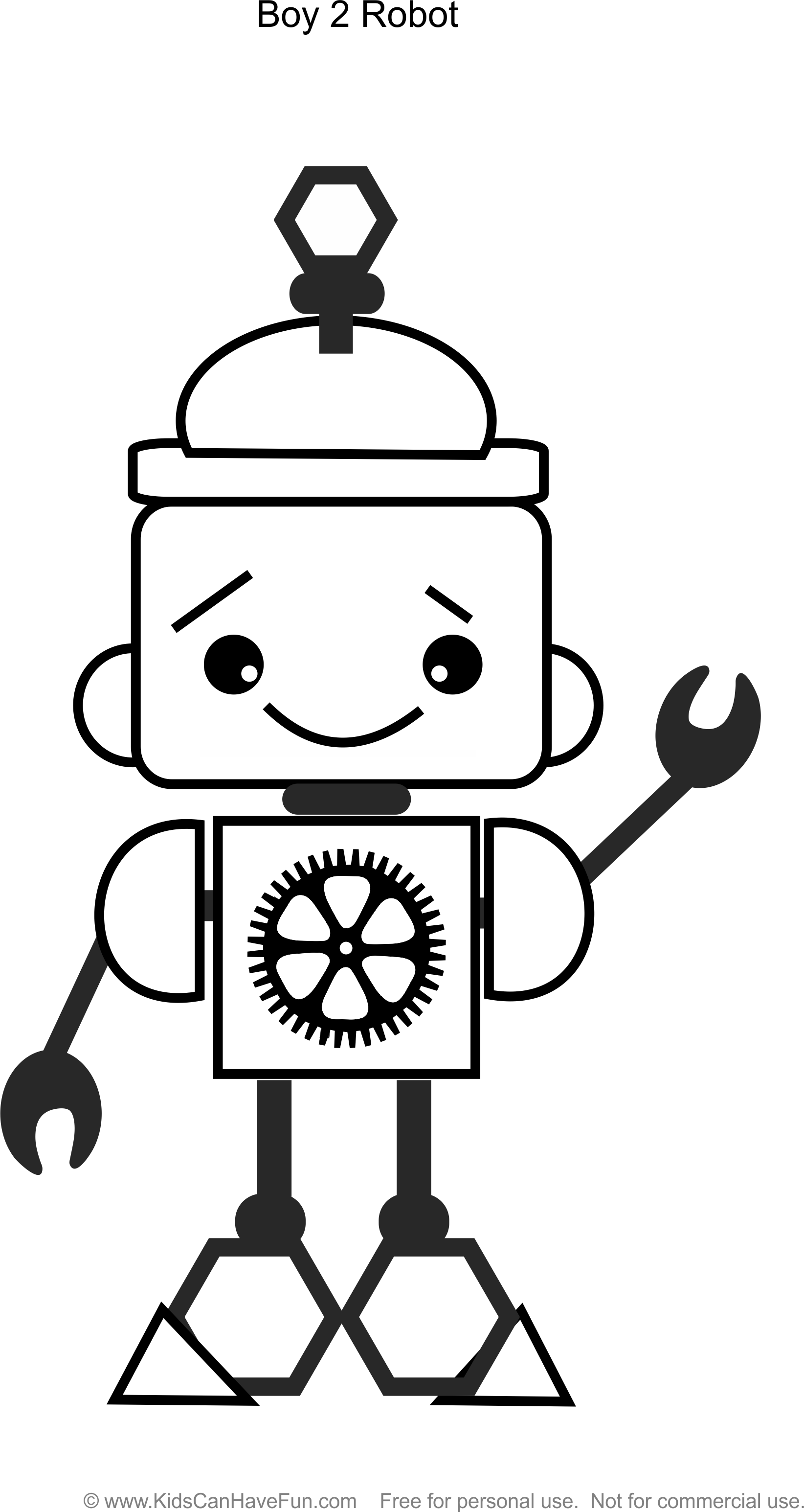 robot boy 2 coloring page httpwwwkidscanhavefuncomrobot coloringhtm robot coloringbook