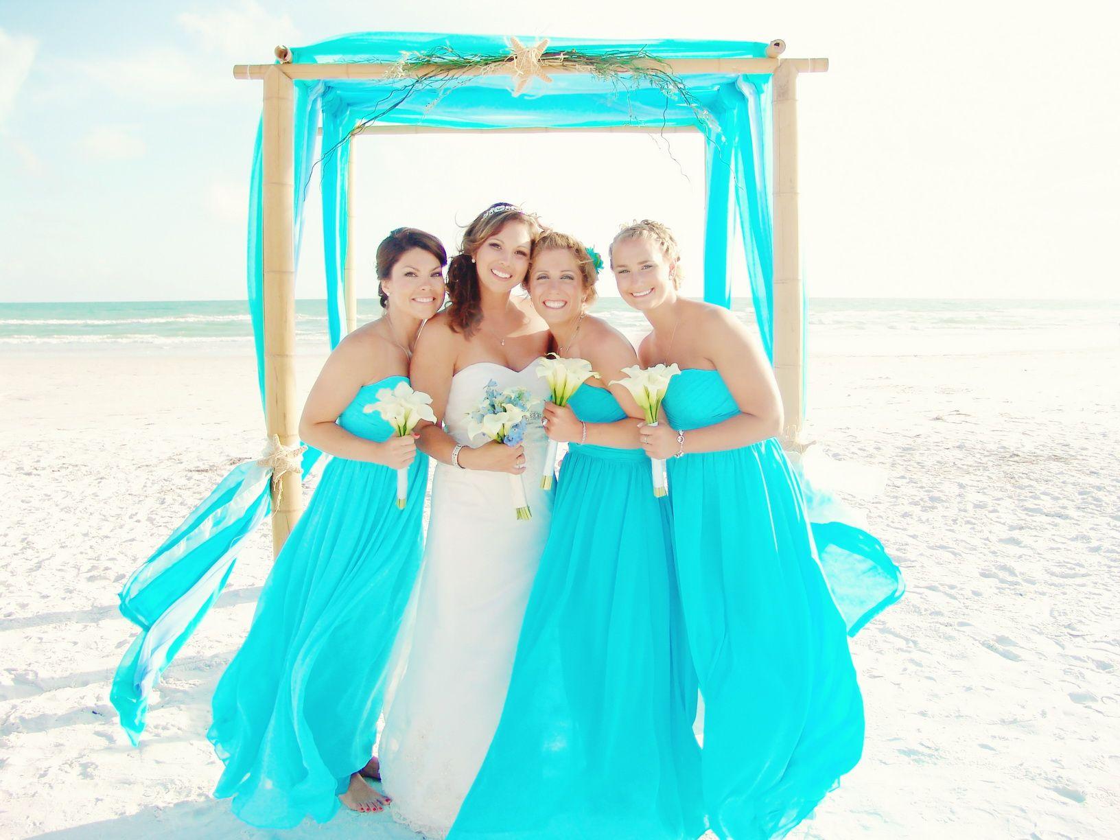 Carribean Blue Beach Wedding