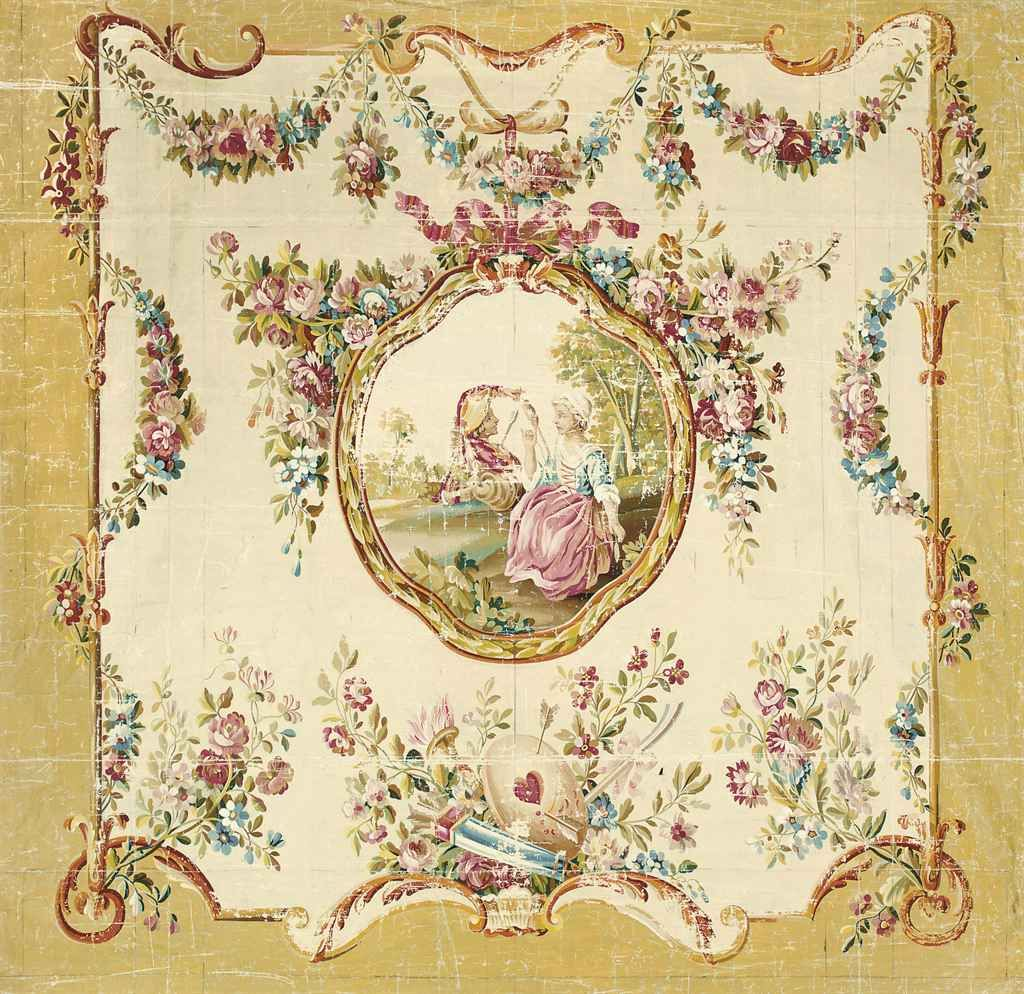 french_school_19th_century_an_aubusson_design_for_a_wall_hanging_of_a_d5409549g.jpg (1024×994)