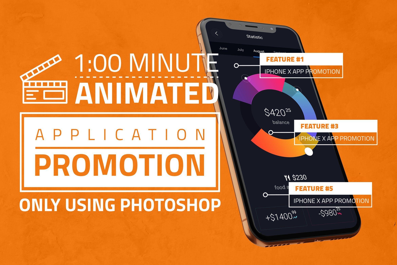 iPhone X App Promotion Ad , Sponsored, company