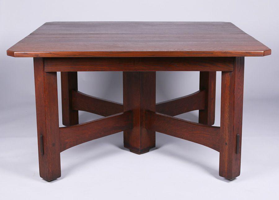 Gustav Stickley 54 Corner Dining Table Stickley Furniture