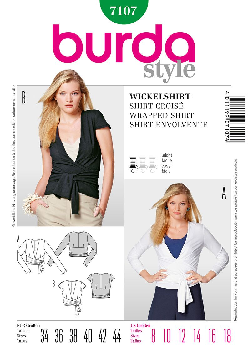 Burda Misses Top 7107 | My Pattern Passion | Pinterest