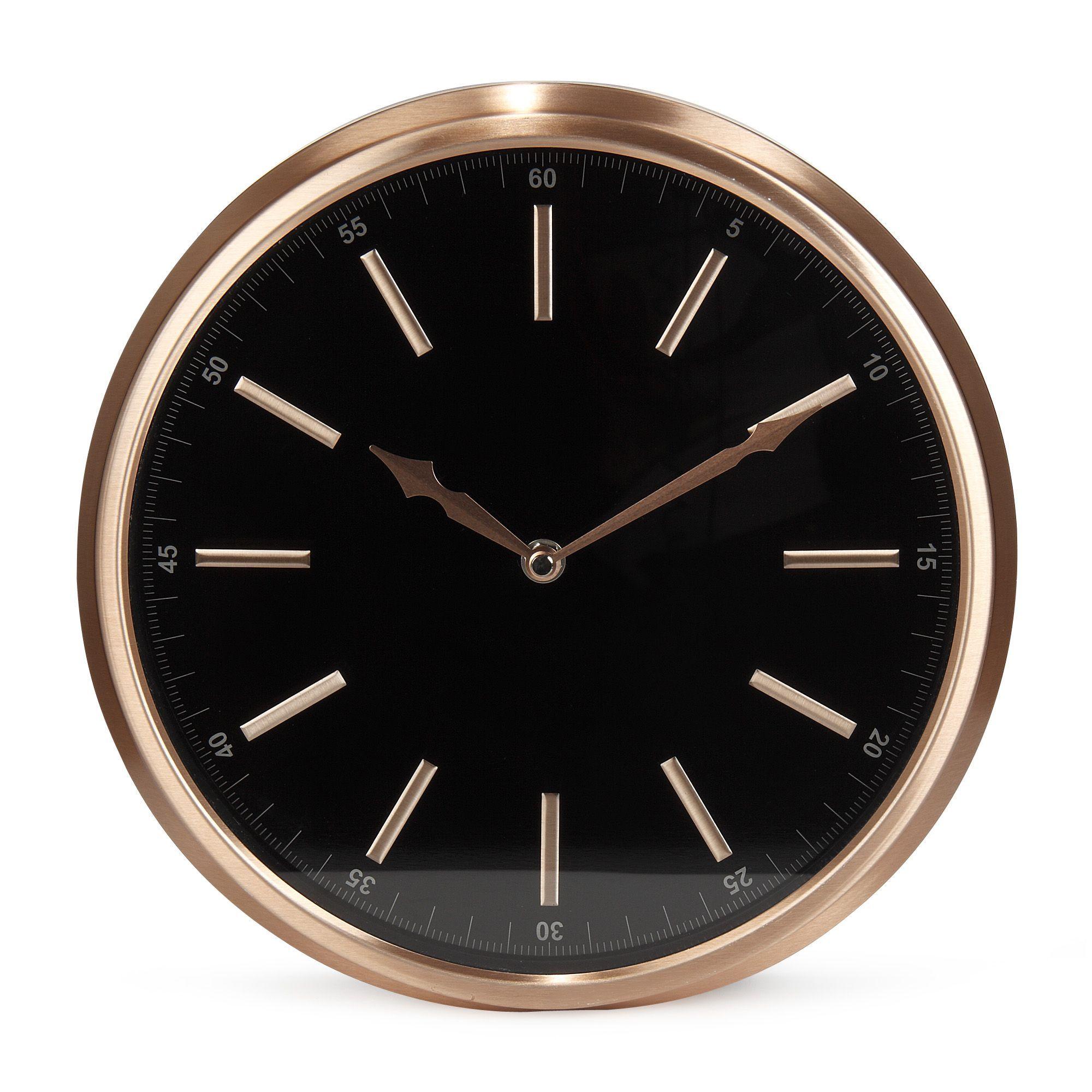 soy horloge d29cm coloris noir et cuivre cuivre. Black Bedroom Furniture Sets. Home Design Ideas