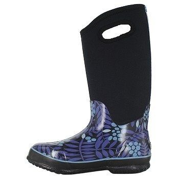 Bogs Womens Classic Winterberry Tall Waterproof Winter Boots Blue Multi