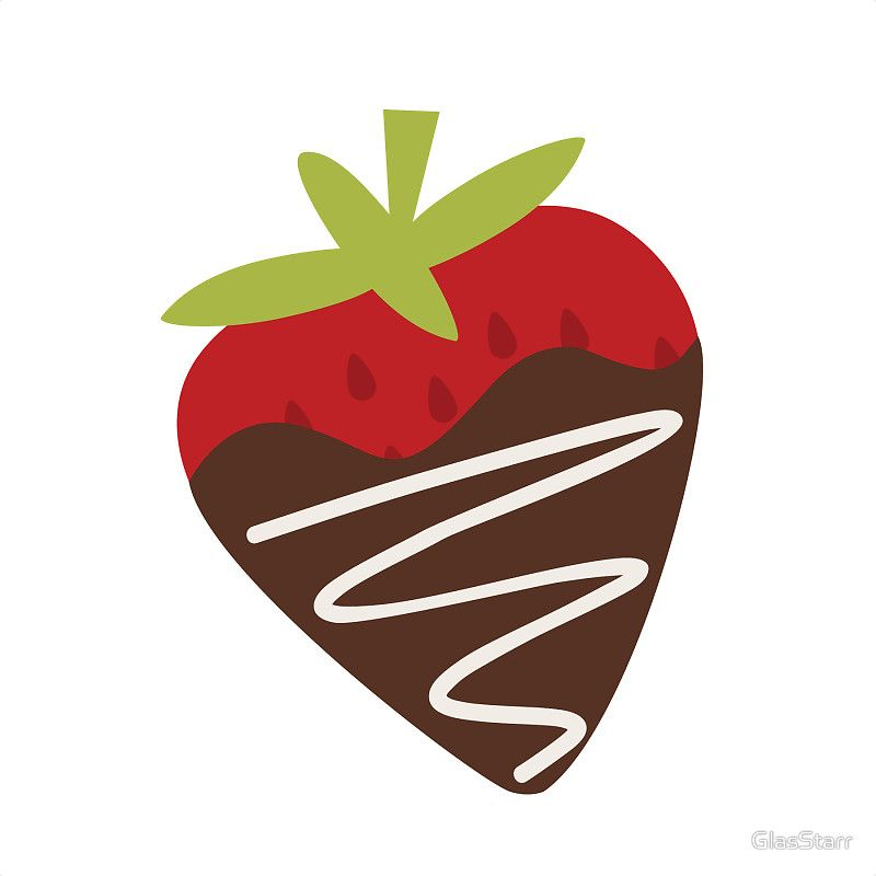 Chocolate Covered Strawberries Sticker By Glasstarr Strawberry Drawing Chocolate Covered Strawberries Covered Strawberries