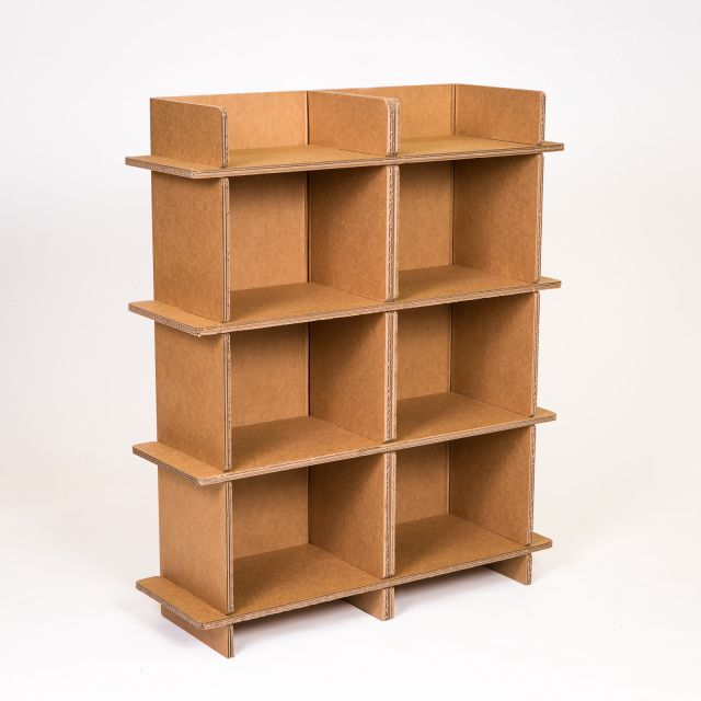 Cardboard Double Shelf Full Chairigami Product Line Cardboard