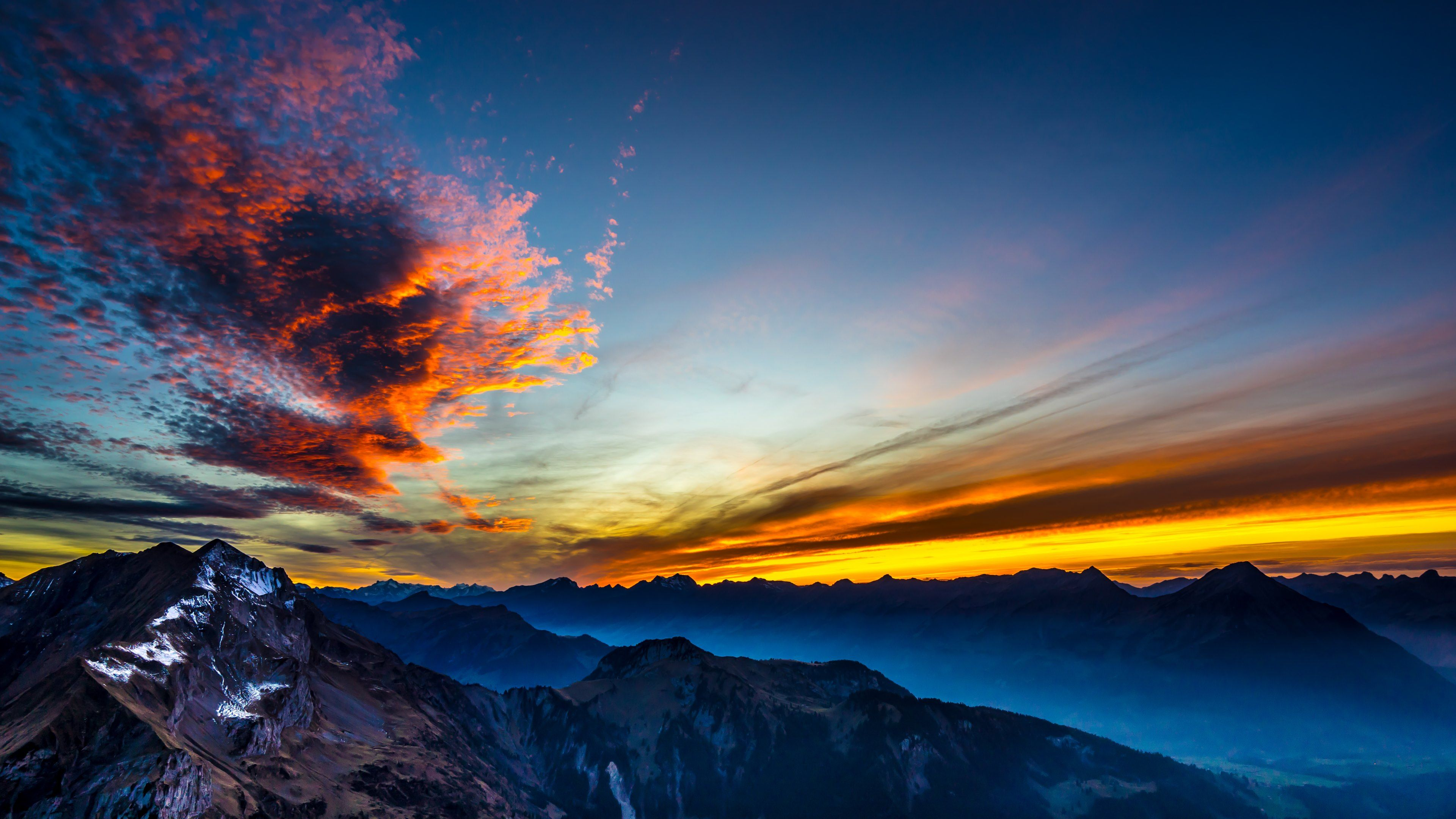Surreal Sunset And 1st Snow Wallpapers Images 4k Background Desktop Background Pictures Hd Wallpaper