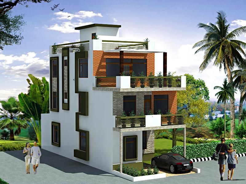 Exterior elevation design in 3 ideas for the house for 3 story building design