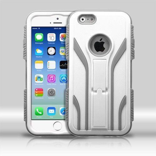MYBAT TUFF Extreme Hybrid iPhone 6/6S Case - Cream White/Iron Gray