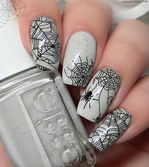12 NAILS OF HALLOWEEN: Soft & Simple Spiderweb Nail Art ...