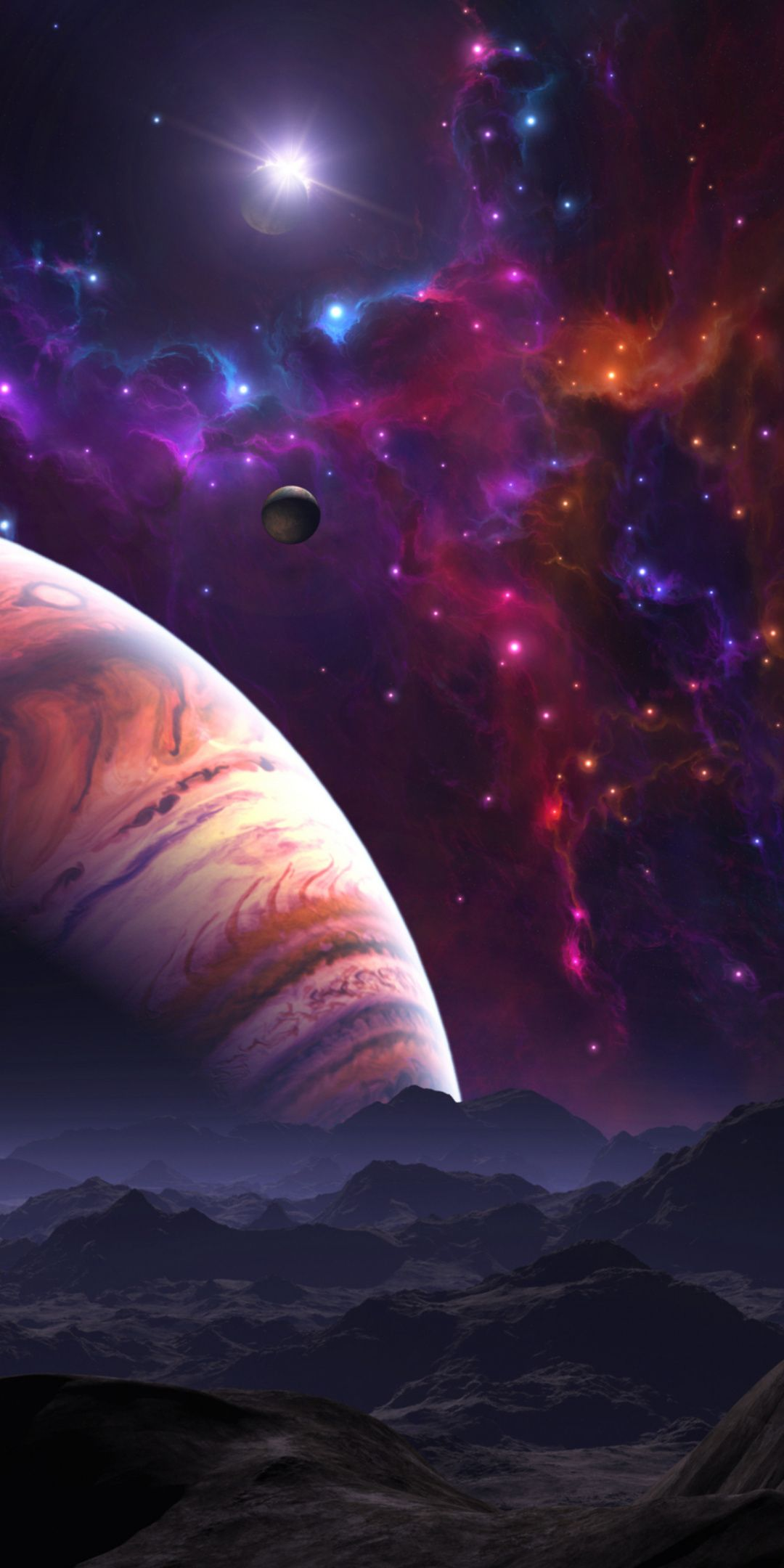 Clouds Fantasy Space Landscape Colorful Space Planets 1080x2160 Wallpaper Space And Astronomy Space Planets Universe