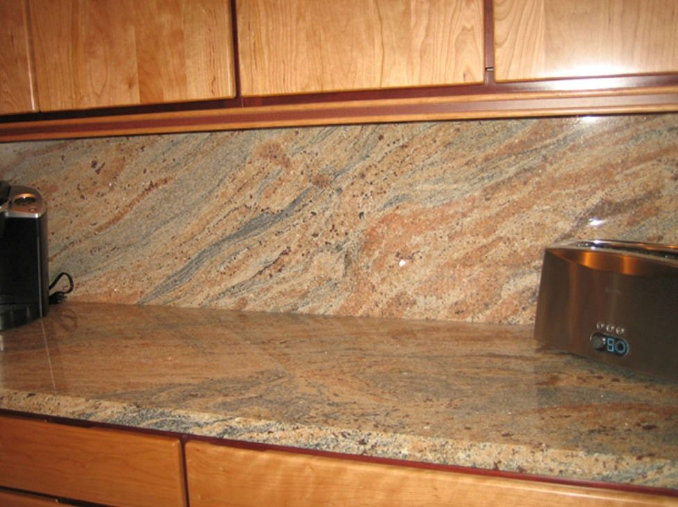 17 best images about kitchen counter on pinterest giallo granite countertops and tile backsplash ideas eclectic kitchen - Granite Countertops With Backsplash