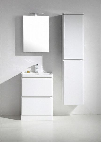 "Narrow 24 Bathroom Vanity tona 24"" narrow gloss white modern bathroom vanity 
