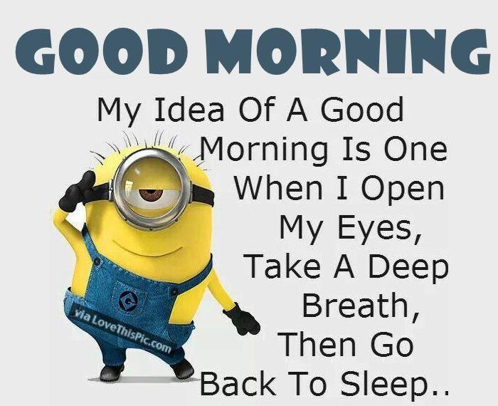 Minions Good Morning Sunday