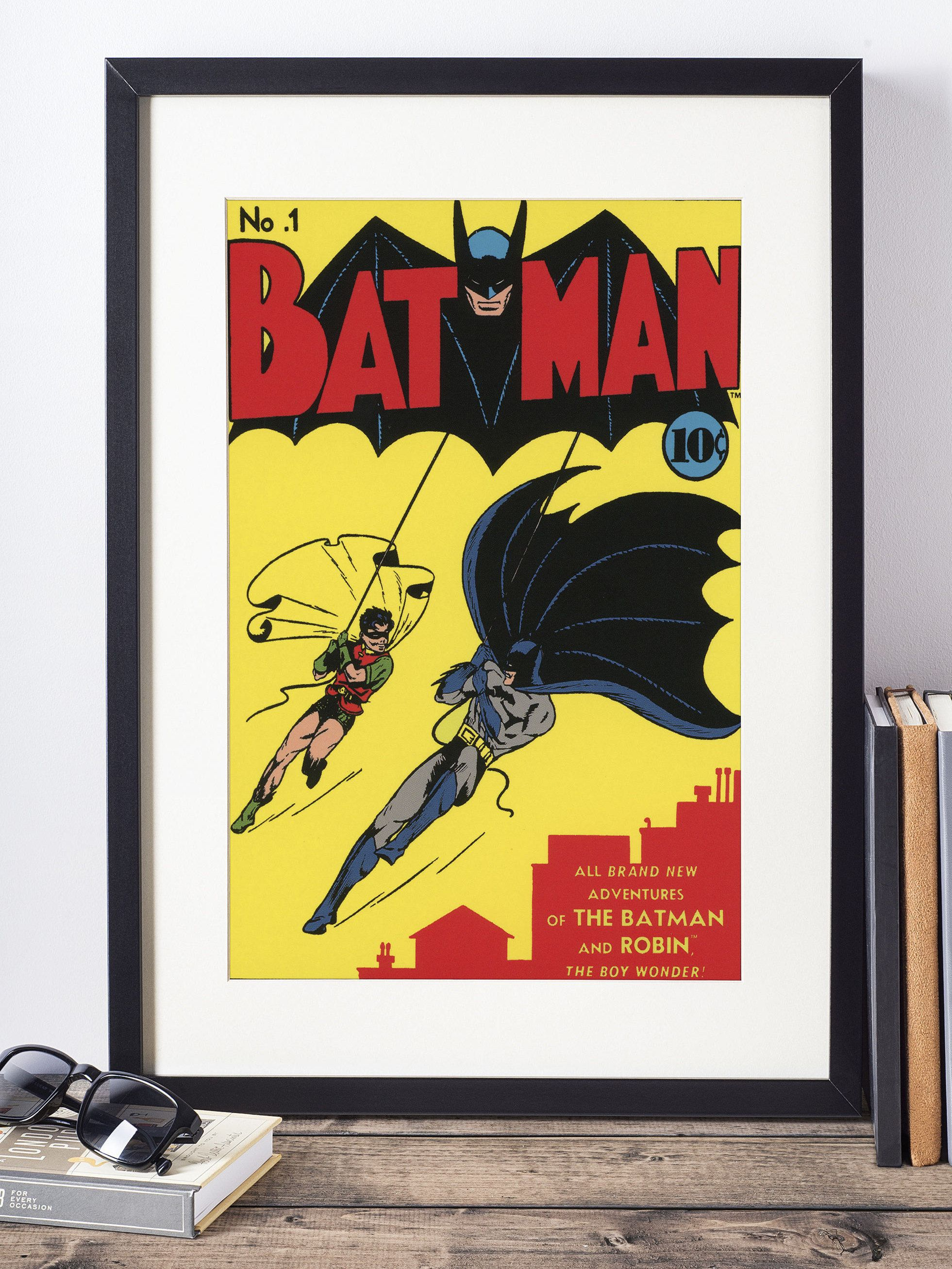 DC Comics Wall Art / Batman Wall Decor / Superhero Poster / Nerdy ...
