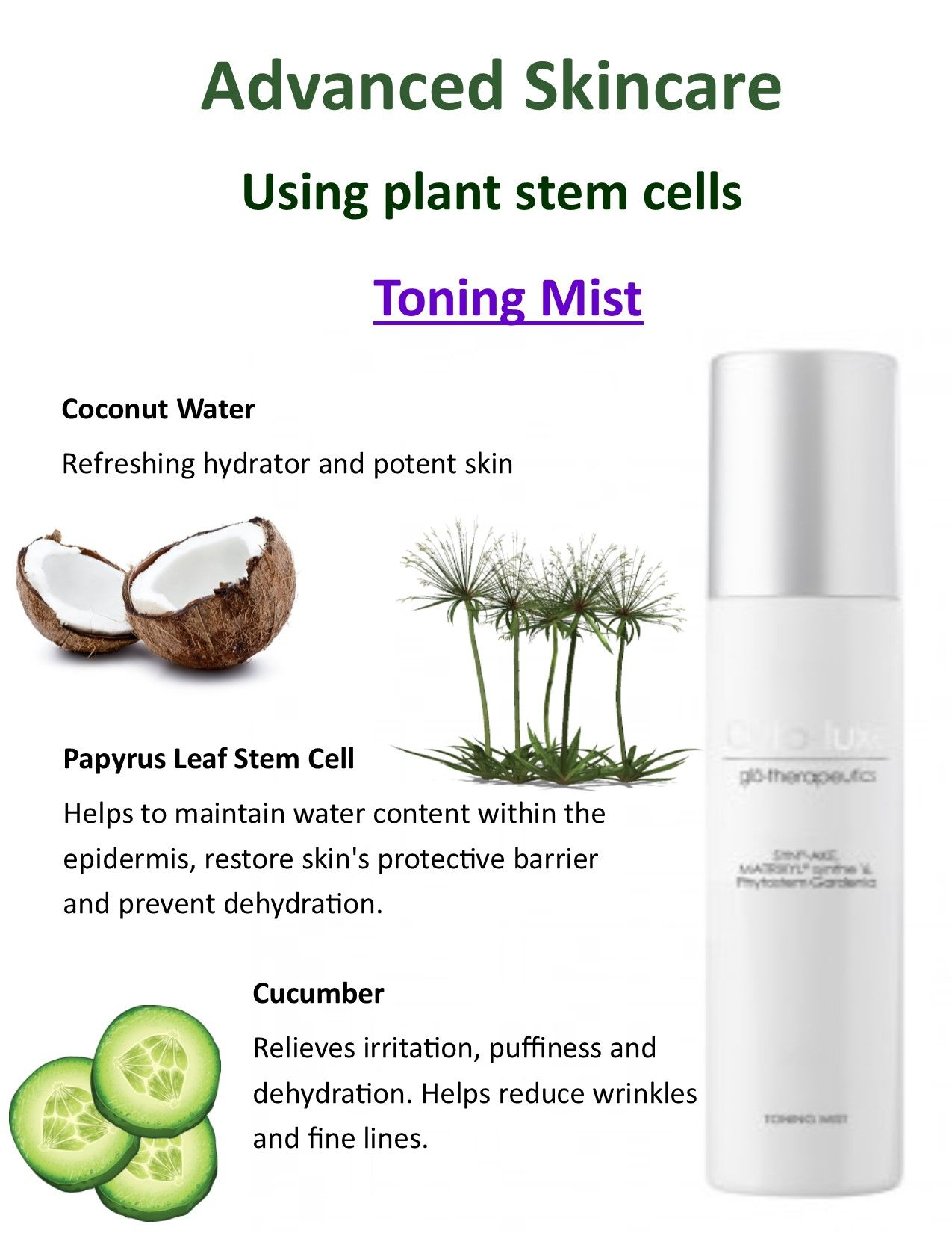 Toning Mist Using Plant Stem Cells