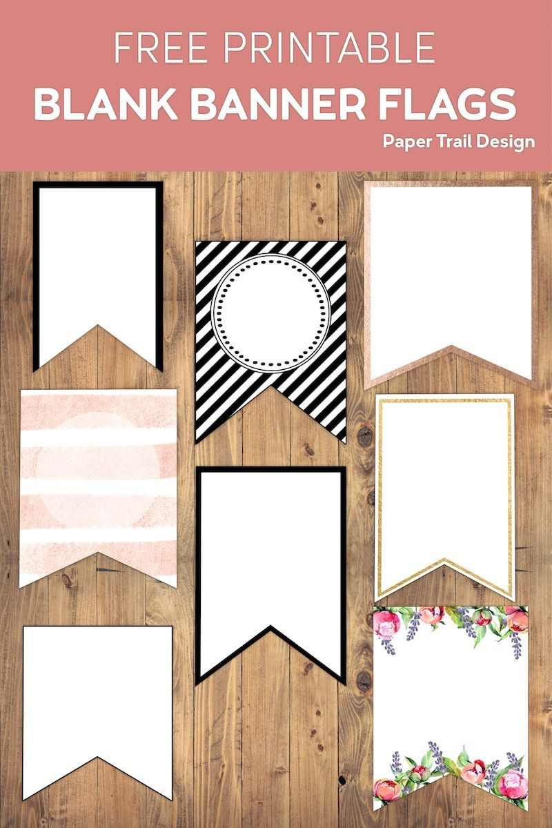 Free Printable Banner Templates Blank Banners Paper Trail Design In 2020 Blank Banner Diy Banner Free Printable Banner