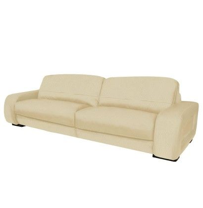 Diego Sofa   7 Foot Leather Sofa In Brown Leather Or Creme