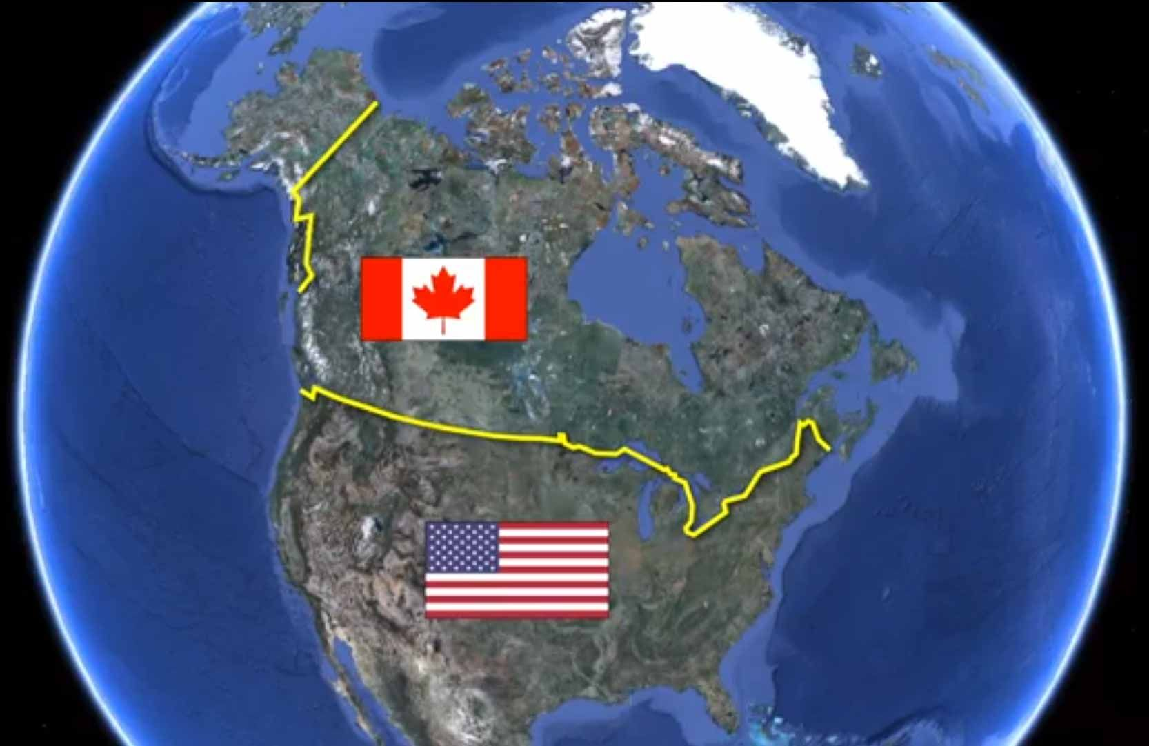 The Bizarre Border Between Canada And The United States Social - Map-of-border-between-us-and-canada